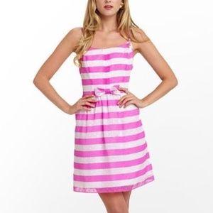 LILLY PULITZER Awning Stripe Antonia Pansy Dress